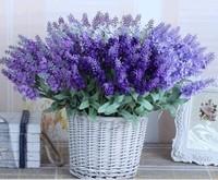 Home Decoration 1 Bouquet  10 Heads Lavender Arifilial Plants Cloth Dedding Decorative Flowers
