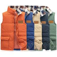 New arrival autumn winter men's vest casual male vest 5 colors M--5XL