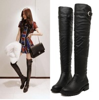 Women's autumn and winter boots Women fashion flat heel Knee length boots Female Boots Size 35-39
