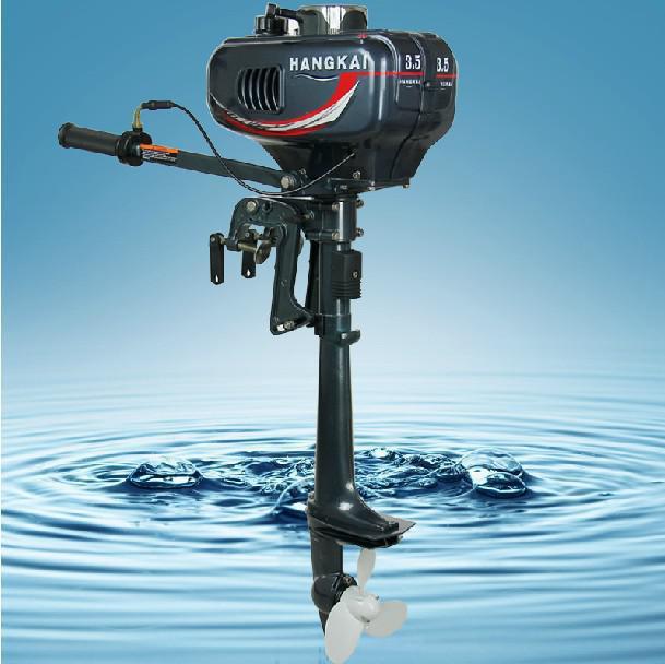 Venda quente novo Hangkai água de refrigeração 2 stroke 3.5 HP motor do barco barco a motor de popa(China (Mainland))