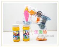 1PC Bubble guns electric music fully-automatic bubble gun children toy  luminous transparent with 2 bottle bubble water