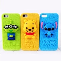 For iphone 5 5s case new Stitch winnie pooh lillte greenman cell phone cases covers with tracking number