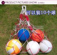 Quality polypropylene fiber material volleyball net bags football net bag basketball bag 10 ball