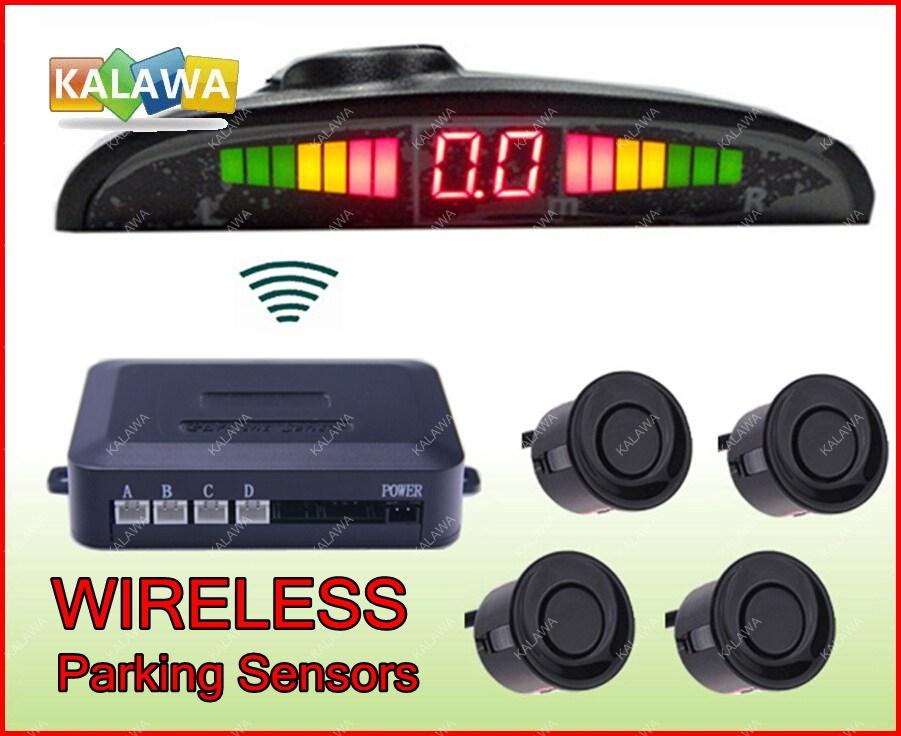 Wireless Car Parking Sensor Buzzer Reverse Backup Radar Monitor System Led Display + 4 Sensors KIT 288 Freeshipping GGG(China (Mainland))