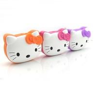 50%shipping fee DHL 50 PCS New Hello Kitty Cartoon Loving Mini Portable Speaker Amplifier FM Radio USB MicrSD TF Card MP3 Player