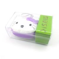 50%shipping fee DHL100 PCS New Hello Kitty Cartoon Loving Mini Portable Speaker Amplifier FM Radio USB MicrSD TF Card MP3 Player