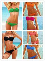 NEW Women's Fashionable Sexy Padded Push Up Cup Swimwear Ladies'  Bikini Set Swimsuit mulit-color for choice