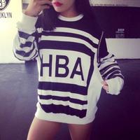 Fashion autumn sports casual letter stripe baseball uniform sports sweatshirt