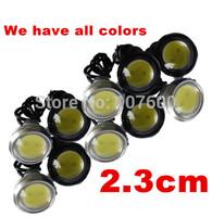 10pcs Car DIY 2.3Cm 9W Waterproof Eagle Eye LED DRL Daytime Running/Brake Lamps Lights/Rear Lamp/License plate light DC12V Free
