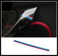 M preformance sticker, car interior door handle sticker, for New 1 3 5 7 series X1 X3 X5 X6 2pcs
