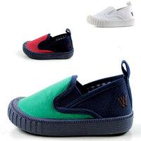 3 Colors Baby Kids Non-Slip Unisex Canvas Sneakers Toddler Children Elastic Shoes Size 21-33 TX41