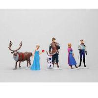 New Hot Sale 2014 Frozen Movie Princess Anna Elsa Hans Kristoff Sven Olaf PVC Action Figure Gift Classic Toys Free Shipping 6pcs
