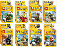 New Minifigures Castle Lion King knight Figures Building Block Kid Gift Toy