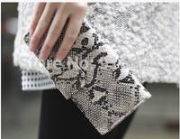 Free shipping long design snake wallets fashion mid size Crocodile high Pu leather wallet short deisgn women's wallets