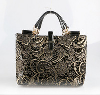 Summer new female bag leather brand fashion lace foreign female package