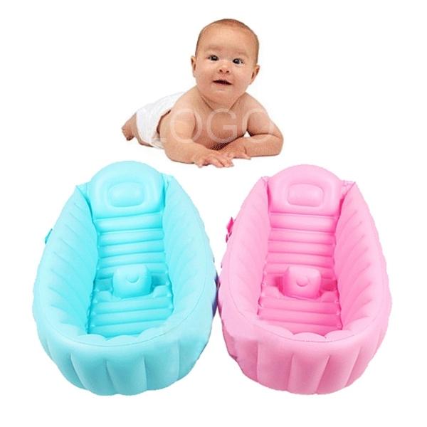 Summer Portable Baby Kid Toddler Bath Tub Inflatable Bathtub Thick Bath Tub(China (Mainland))