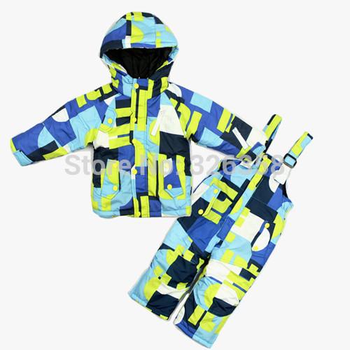 Retail baby boys girls winter jacket +pants clothing set / kids Ski suits snowboard wear/children windproof warm outdoor coats(China (Mainland))