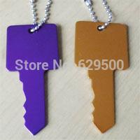 1200pcs Key Shape Blank Engravable Aluminium Dog Tag Cheap Dog Tags