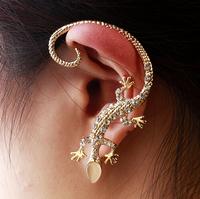 2014 Fashion Rhinestone Ear cuff Earrings Luxury Elegant Gecko Stud Earrings Free Shippping Drop shipping