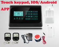Support IOS And Android APP Touch Keypad GSM Home Alarm System 2014 Newest