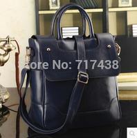 2014 hot new glossy shoulder bag fashion women handbag pu leather messenger bags women vintage totes S4816