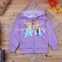 Princess Frozen Children Outerwear Coats For Girls Cartoon Jackets Winter Autumn Baby Kids Hoodies Clothing