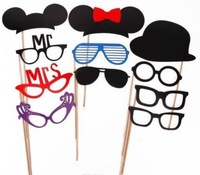 31pcs DIY Paper Mustache Tie lips On A Stick Wedding favor Photo Booth Props Photobooth Funny Party Masks Bridesmaid wd202