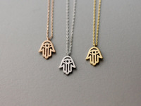 2015 Fashion Gold Silver Hamsa  Hands Protection Necklace For Women And Girl
