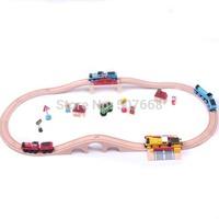 10sets Thomas wooden train track tracks orbit trains compatible wooden set track 1 set=15pcs