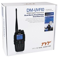 Free shipping 2014 NEWest launch TYT  DM-UVF10  DMP digital walkie talkie  dual display dual band handheld two way radio DMUVF10