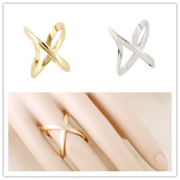 Min.order $10 (mix) New Hot Punk Alloy Shiny Gold Silver Finger Rings Women Opening Free Shipping Wholesale Excellent Quality