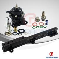 PQY STORE- BRAND NEW Adjustable Fuel Pressure Regulator and Fuel Rail For B-Series B16 B18C EG DC EK