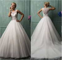 Custom Made Vestidos de Noiva Vintage Ball Gown Wedding Dress 2014 New Romantic Bridal Gowns Weddings&Events Free Shipping