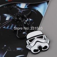 Free shipping Retail 1pcs Movie Star Wars Stormtrooper Cosplay Key Ring Keychains Metal Figures Toys Pendants
