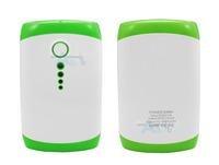 Green 9000MAH 2 USB Battery Panel Power Bank  for iphone Samsung  phone