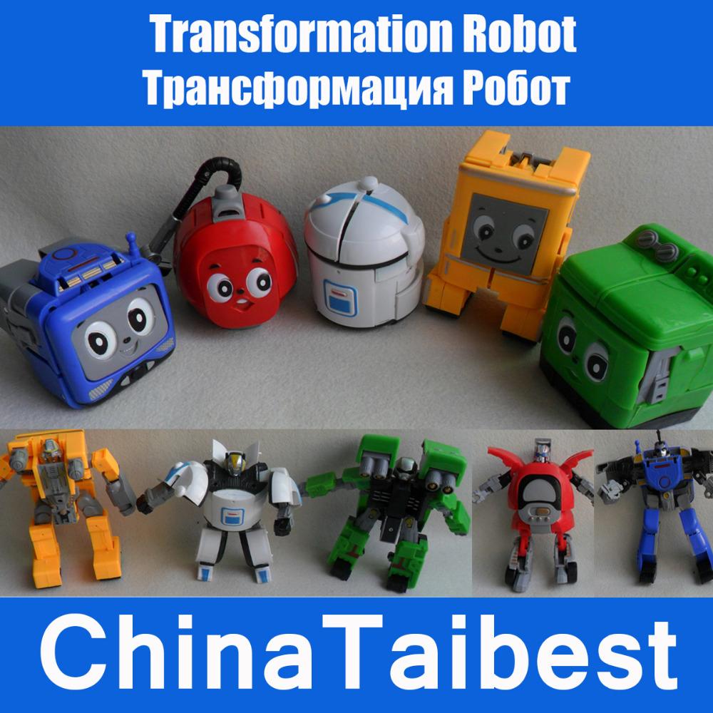 Electric ApplianceTransformation Robot Toys Gift Boy 5pcs/Lot(China (Mainland))
