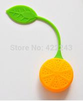 2pcs/lot Silicone Strawberry Design Loose Tea Leaf Strainer Herbal Spice Infuser Filter Tools yellow lemon Tea Leaf Strainer