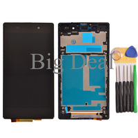 Test Before LCD Display+Touch Screen Digitizer Assembly+ Frame +Tools For Sony Xperia Z1 L39h l39 C6902 C6903 C6906 C6943 Black