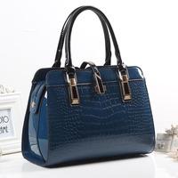 For Crocodile 2014 fashion spring and summer women's handbag japanned leather handbag one shoulder women's cross-body bag
