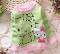 Fashion Autumn / Winter Weaving Children's Clothing,boys & girls cartoon KT cat Sweater,Knitte Pullovers,Free Shipping,T10-078