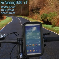 Bike Bicycle Handlebar Mount Holder With Waterproof Case For Samsung Galaxy Mega 6.3 i9200/MP4/GPS and same size smartphone