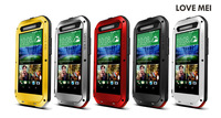 Waterproof Shockproof Dirt proof Case Cover For HTC One E8 case cover protective shell skin with Gorilla Glass SJK3-001