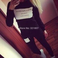 2014 new ballinclaga women sport suit women brand suit shirt +pants women hoody long sleeve autumn casual shirt
