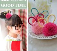 2014 Fashion Children Sweet Unique Pompon Ball Bunny Rabbit Ear Hair holder Band Hair Clip Wholesales 50pcs/lot