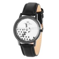 High Quality Student Women Casual Dress Watch Fabric with Leather Strap Quartz Analog Wrist Watch Clocks