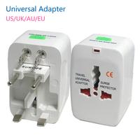 5pcs/lot World Universal AC Power Converter Adapter Plug EU US UK AU Extension International World Travel Adaptor Free Shipping