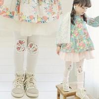 Children's clothing Girl's autumn cotton trousers embroidered legging fashion girls leggings children pants