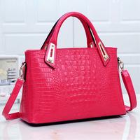 For Crocodile women's bag 2014 cross-body handbag japanned leather bag small fresh fashion female