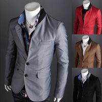 Color Matching Men Blazer Male Fashion Casual Coat Man Jacket Slim Fit Men Blazers Free Shipping 2014 New Hot Sell B055