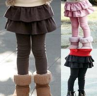 Free shipping  girl legging Girls Skirt-pants Cake skirt kids leggings girl baby pants kids leggings